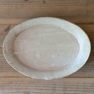 遠藤素子 粉引オーバル皿(大)