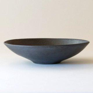 廣川智子 黒釉オーバル鉢