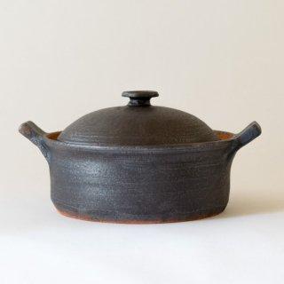 遠藤素子 鉄釉土鍋S(2-3人用)