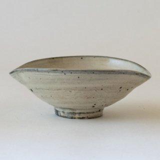増田勉 粉引楕円小鉢