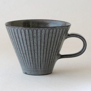 新井真之 グレーマグカップ