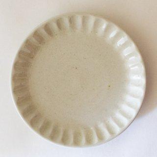 新井真之 白リム六寸皿-B