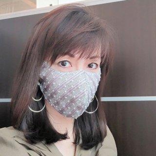 再入荷 #最も美しいマスク #ノーメイクの友  #UVマスク  ドットレース3色からお選びください