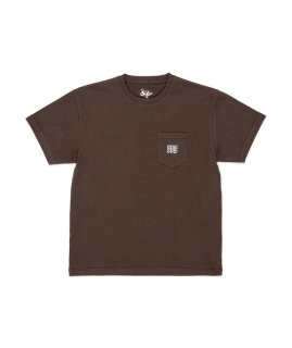 DANERCPH Embroided Triple Logo Pocket Tee Dirty Green