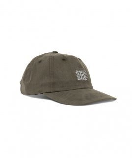 DANERCPH Embroidered Triple Logo Cap Dirty Green