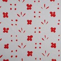 marimekko ヴィンテージファブリック Kukka 白×赤 136×42