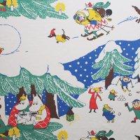 Moomin/ムーミン ファブリック/クリスマス 135×110