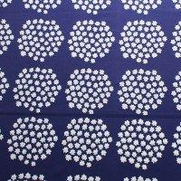 marimekko/マリメッコ ヴィンテージファブリック Puketti/ダークブルー 切売り/67×76