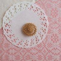 白樺の編みブローチ 5cm