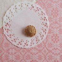 白樺の編みブローチ 4cm