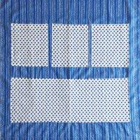フィンランドから届いたウォールポケット/ブルー