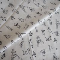 Finlayson/フィンレイソン ファブリック Moomin Friends/ホワイト 150×50/切売り