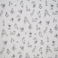 Finlayson/フィンレイソン ファブリック Moomin Friends/ホワイト 77×61/切売り
