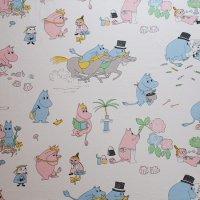 Moomin/ムーミン ヴィンテージファブリック/アイボリー 148×110/切売り