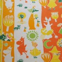 Moomin/ムーミン ヴィンテージファブリック/オレンジ&イエロー 118×60