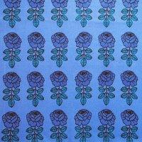 marimekko/ ファブリック Vihkiruusu ブルー 70×62/切売り