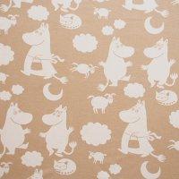 Moomin/ムーミン ヴィンテージファブリック/ベージュ 116×90