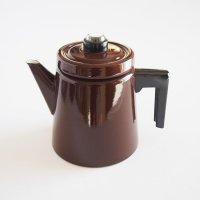 ARABIA/FINEL エナメルコーヒーポット L/ブラウン