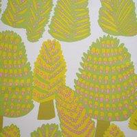 marimekko/マリメッコ ファブリック Metsanvaki/ライトグリーン 143×65(3)