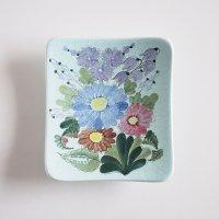 ARABIA/アラビア ARA 花の壁掛け陶板/プレート