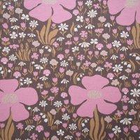 北欧ヴィンテージファブリック Flower 70×67/切売り