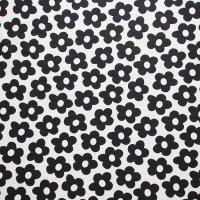Malin Westberg ファブリック Flower/ブラック  150×73/切売り