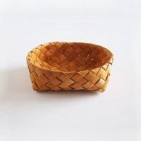 白樺のカゴ/丸いパンかご 19×19