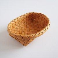 白樺のカゴ/楕円のパンかご L
