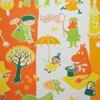 Moomin/ムーミン ヴィンテージファブリック/オレンジ 117×77