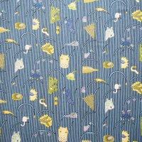 marimekko/マリメッコ ファブリック Afrikan Kuningatar/ブルー 72×105/切売り