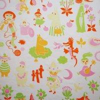 Moomin/ムーミン ヴィンテージファブリック/パステルオレンジ 87×73