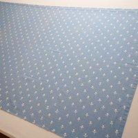 Tampella/タンペラ ヴィンテージファブリック/水色に白のチューリップ 115×71