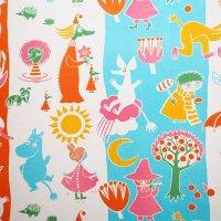 Moomin/ムーミン ヴィンテージファブリック/ピンク 117×76/切売り