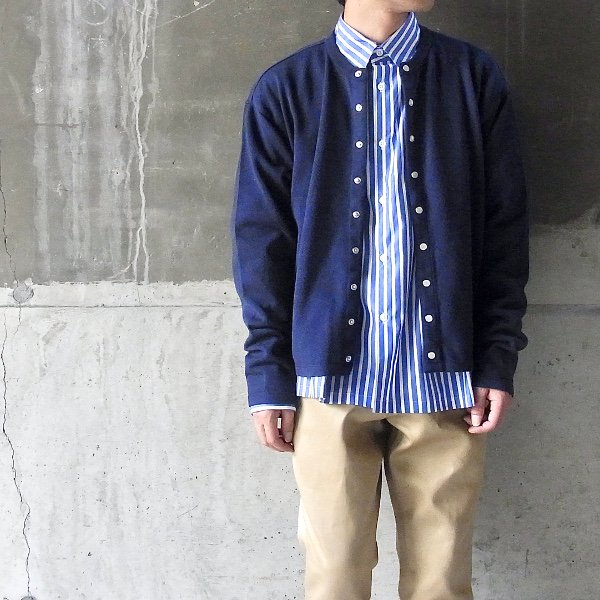 DIGAWEL | KNIT&SEWN CARDIGAN(NAVY)