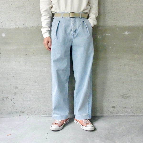 CURLY | MAZARINE WIDE TROUSERS(ICE INDIGO)