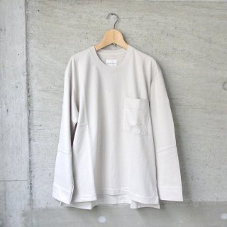 CURLY | FROSTED L/S POCKET TEE(OFF WHITE)