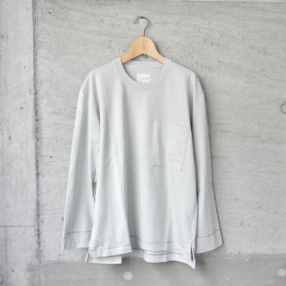 CURLY | FROSTED L/S POCKET TEE(SAGE GREEN)