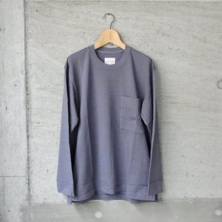 CURLY | FROSTED L/S POCKET TEE(LAVENDER)