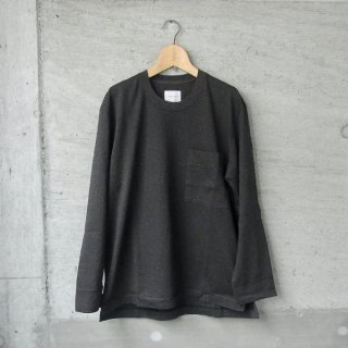 CURLY | FROSTED L/S POCKET TEE(INK BLACK)