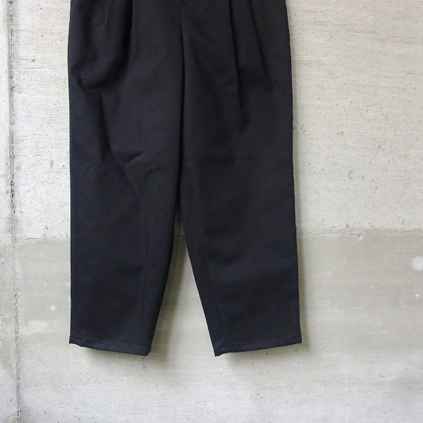 DIGAWEL | 2TUCK TAPERED PANTS� COTTON(BLACK)