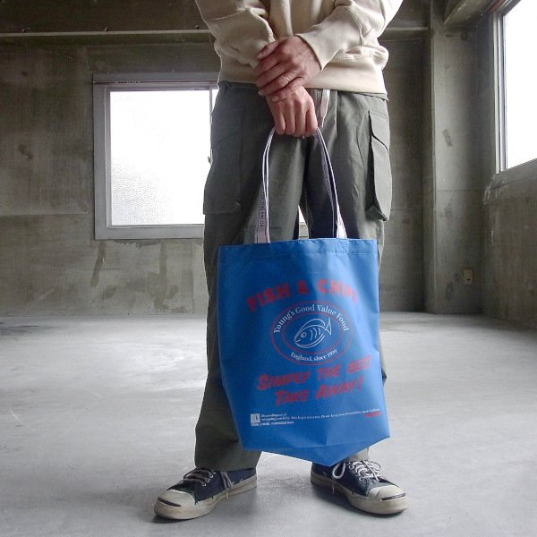YOUNG & OLSEN The DRYGOODS STORE | Y&O SHOPPING TOTE FC(BLUE)