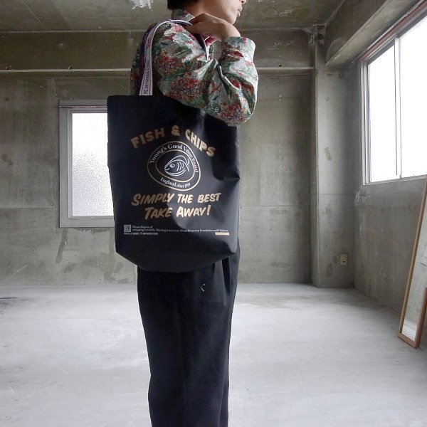 YOUNG & OLSEN The DRYGOODS STORE | Y&O SHOPPING TOTE FC(BLACK)