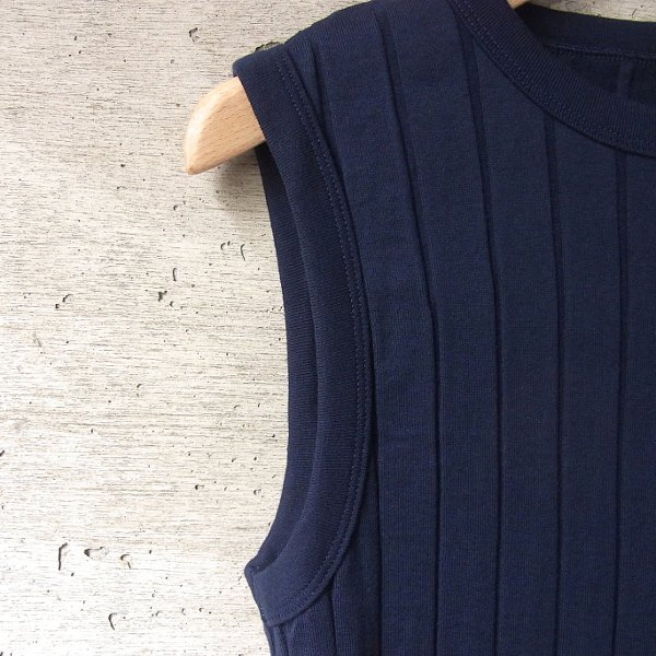 YOUNG & OLSEN The DRYGOODS STORE | BROAD RIB TANK TOP(NAVY)