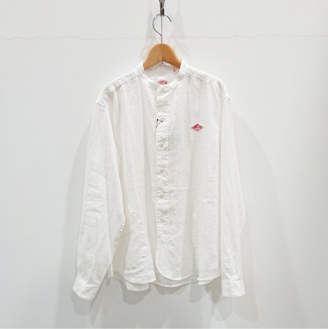 <img class='new_mark_img1' src='https://img.shop-pro.jp/img/new/icons61.gif' style='border:none;display:inline;margin:0px;padding:0px;width:auto;' />LINEN BAND COLLAR SHIRT
