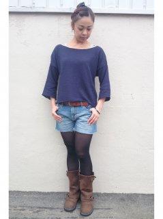 7分袖ふんわりsweater
