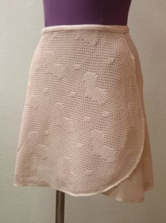 ハートメッシュ巻きスカート
