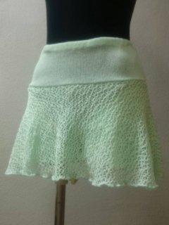 パンツ付メッシュスカート(裾ひらひら)ショート