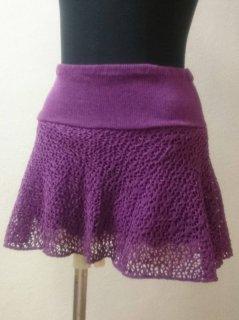 パンツ付メッシュスカート(裾シンプル)ショート