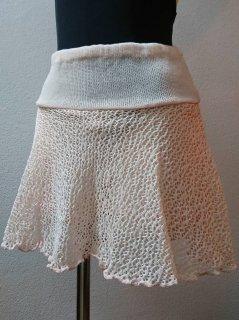 パンツ付メッシュスカート(裾ひらひら)ミディアム