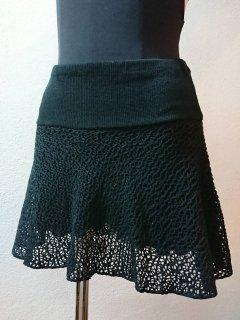 パンツ付メッシュスカート(裾シンプル)ミディアム